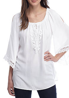 Melissa Paige Cold Shoulder Peasant Blouse