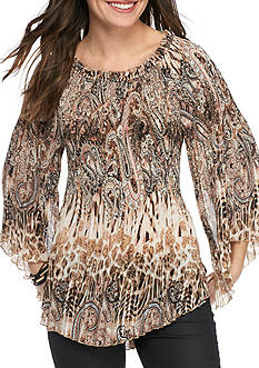 Melissa Paige Wild Thing Pleated Blouse