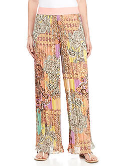 Melissa Paige Kashmir Patchwork Pleated Pants