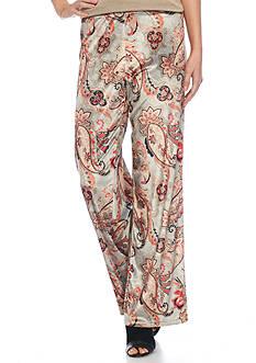 Melissa Paige Printed Velvet Pant