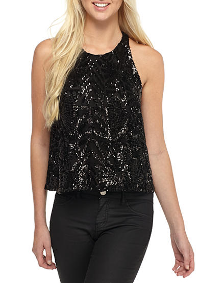 Everly Sleeveless Sequin Top
