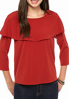 Everly Solid Pilgrim Blouse