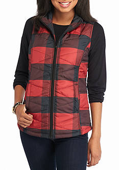 Red Camel Buff Check Puffer Vest