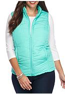 Red Camel® Plus Size Solid Puffer Vest