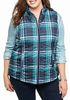Red Camel® Plus Size Quilted Puffer Vest