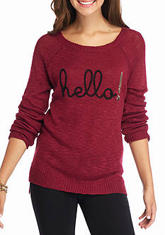 Red Camel Hello Embellished Sweater