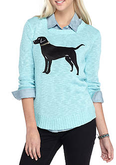 Red Camel Flocked Dog Sweater