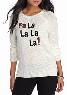 Red Camel Fa La La La Embellished Sweater