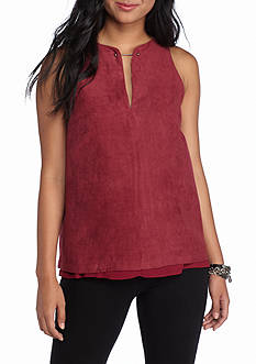 Esley Faux Suede Tank