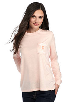 Red Camel Long Sleeve Southern Sweetheart Pocket Tee
