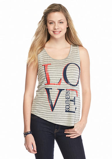 Red Camel® 'Love Southern' Striped Tank