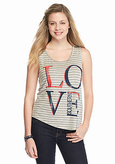 Red Camel 'Love Southern' Striped Tank