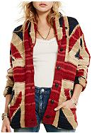 Denim & Supply Ralph Lauren UK-Flag Shawl Cardigan