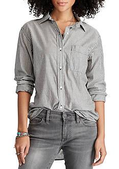 Denim & Supply Ralph Lauren Striped Boyfriend Shirt