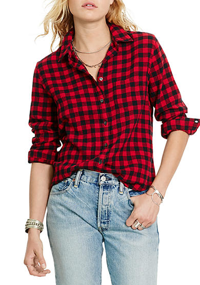 Denim & Supply Ralph Lauren Tomboy Plaid Button Down Shirt