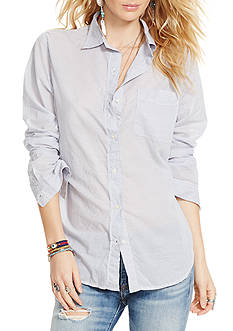 Denim & Supply Ralph Lauren Boyfriend-Fit Button-Up Shirt