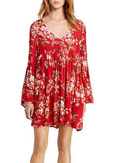 Denim & Supply Ralph Lauren Floral Print Bell Sleeve Dress