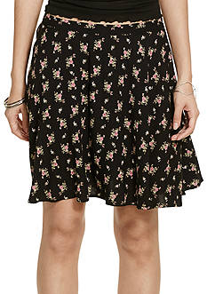 Denim & Supply Ralph Lauren Floral Print A-Line Miniskirt