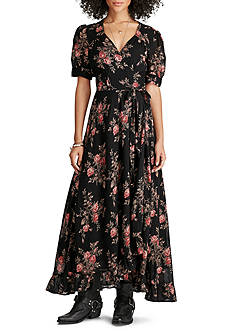Denim & Supply Ralph Lauren Wrap Tie Maxi Dress