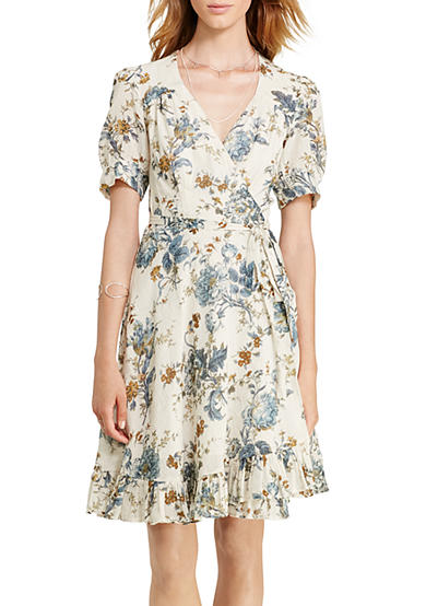 Denim & Supply Ralph Lauren Floral-Print Gauze Wrap Dress