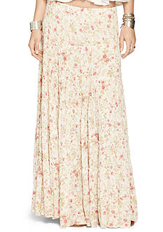 Denim & Supply Ralph Lauren Tiered Floral Maxi Skirt