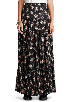 Denim & Supply Ralph Lauren Floral-Print Tiered Maxi Skirt