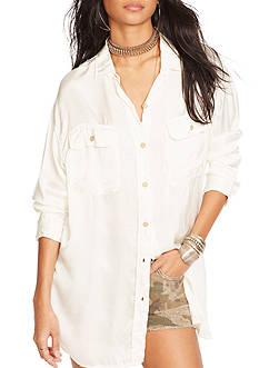 Denim & Supply Ralph Lauren Satin Military Shirt