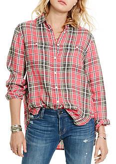 Denim & Supply Ralph Lauren Plaid Cotton-Linen Shirt