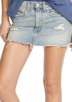 Denim & Supply Ralph Lauren Distressed Denim Miniskirt