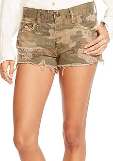 Denim & Supply Ralph Lauren Camo Boyfriend Cutoff Short