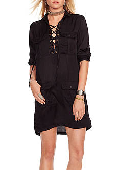 Denim & Supply Ralph Lauren Satin Lace-Up Dress