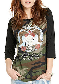 Denim & Supply Ralph Lauren Graphic Raglan Cotton Tee