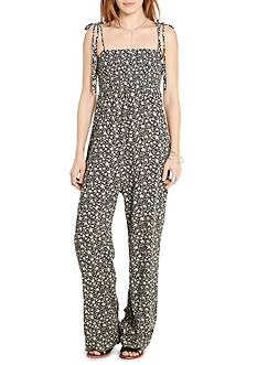 Denim & Supply Ralph Lauren Smocked Floral Jumpsuit