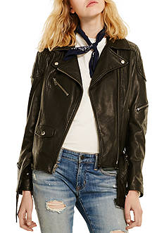 Denim & Supply Ralph Lauren Leather Moto Jacket