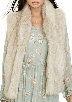 Denim & Supply Ralph Lauren Faux Fur Vest