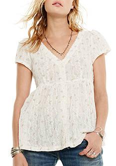 Denim & Supply Ralph Lauren Button Front Floral Blouse