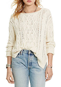 Denim & Supply Ralph Lauren Cable-Knit Cotton Sweater