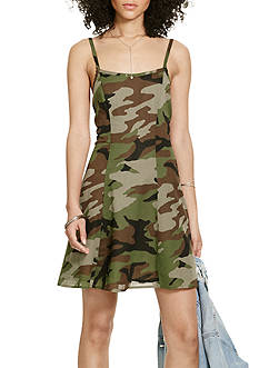 Denim & Supply Ralph Lauren Open-Back Slip Camo Dress