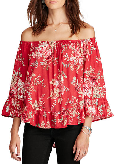 Denim & Supply Ralph Lauren Sutter Floral-Print Gauze Top