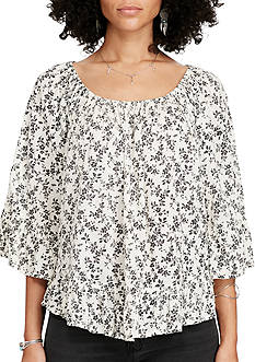 Denim & Supply Ralph Lauren Rockport Floral-Print Gauze Top