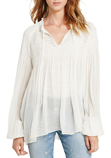 Denim & Supply Ralph Lauren Kacie Smocked Gauze Top
