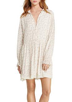 Denim & Supply Ralph Lauren Dover Crepe Long-Sleeve Dress