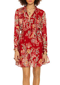 Denim & Supply Ralph Lauren Bianca Floral Pleated-Bib Dress