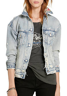 Denim & Supply Ralph Lauren Patchwork Denim Trucker Jacket