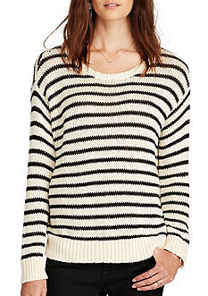Denim & Supply Ralph Lauren Fringed Cotton Sweater