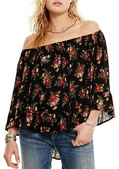 Denim & Supply Ralph Lauren Floral Off-the-Shoulder Top
