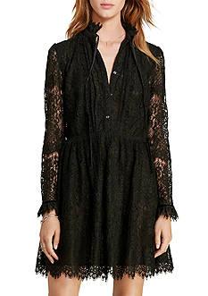 Denim & Supply Ralph Lauren Velvet-Trim Lace Dress