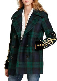 Denim & Supply Ralph Lauren Tartan Wool Pea Coat