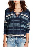 Denim & Supply Ralph Lauren Lace-Up Tunic Sweater