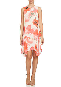CeCe Watercolor Poppy Dress